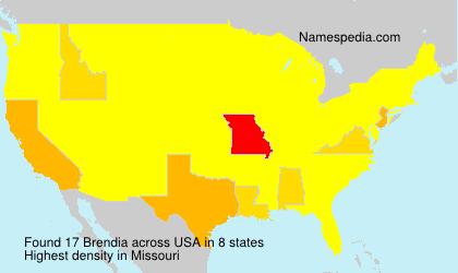 Surname Brendia in USA