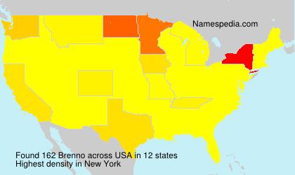 Surname Brenno in USA