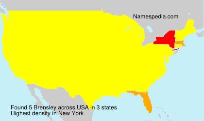 Surname Brensley in USA