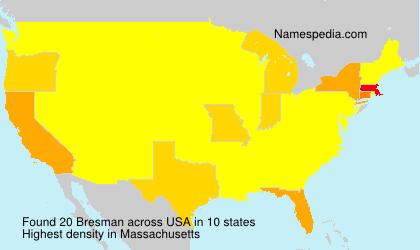 Familiennamen Bresman - USA