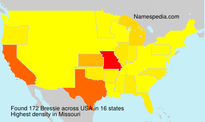 Surname Bressie in USA