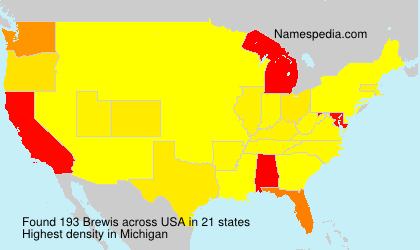 Surname Brewis in USA