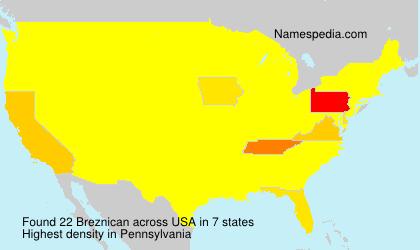 Surname Breznican in USA