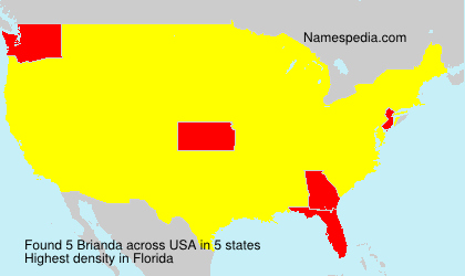 Surname Brianda in USA
