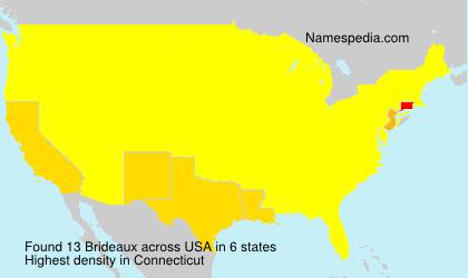 Familiennamen Brideaux - USA
