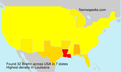 Surname Briehn in USA