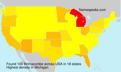 Surname Brimacombe in USA