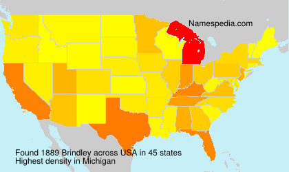Surname Brindley in USA