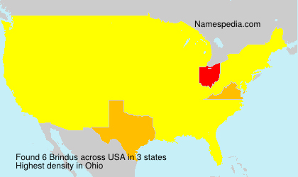 Surname Brindus in USA