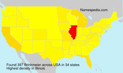 Surname Brinkmeier in USA