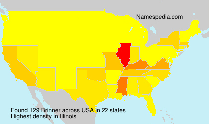 Surname Brinner in USA