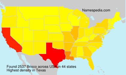 Surname Brisco in USA