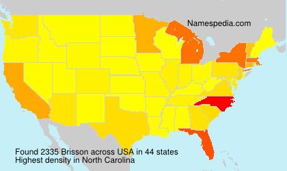 Familiennamen Brisson - USA