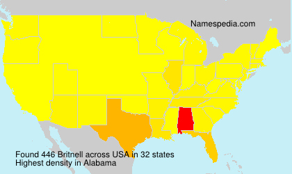 Surname Britnell in USA