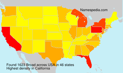 Surname Broad in USA