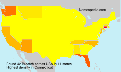 Surname Broatch in USA