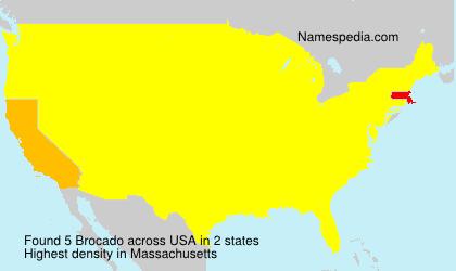 Surname Brocado in USA