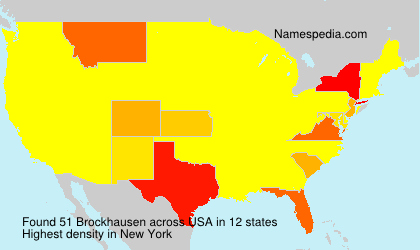Surname Brockhausen in USA