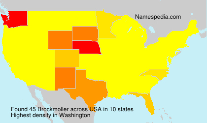 Surname Brockmoller in USA