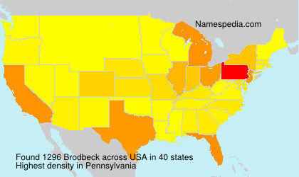 Surname Brodbeck in USA