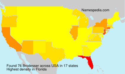 Surname Brodesser in USA