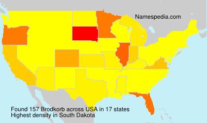 Surname Brodkorb in USA