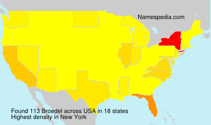 Surname Broedel in USA