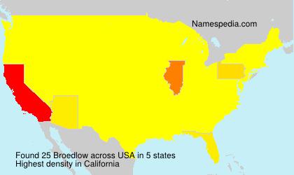 Familiennamen Broedlow - USA