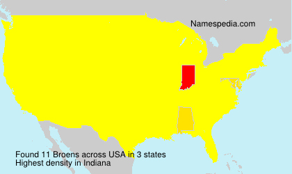 Surname Broens in USA