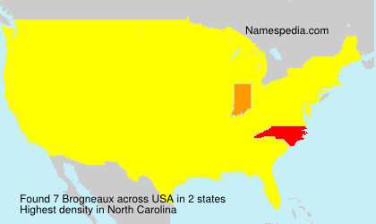Surname Brogneaux in USA