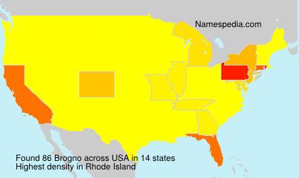 Surname Brogno in USA
