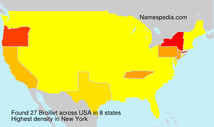 Surname Broillet in USA