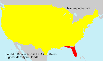 Surname Brojcin in USA