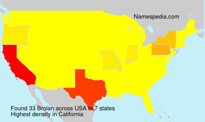 Familiennamen Brolan - USA