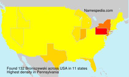 Surname Broniszewski in USA