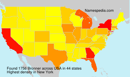 Surname Bronner in USA