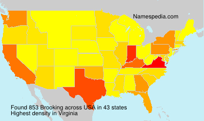Surname Brooking in USA