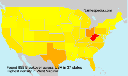 Surname Brookover in USA