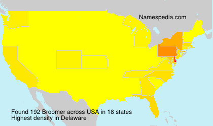 Surname Broomer in USA