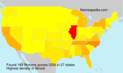 Surname Brooms in USA