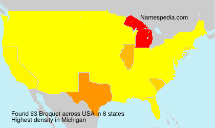 Surname Broquet in USA