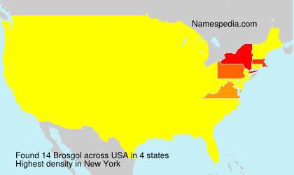 Surname Brosgol in USA