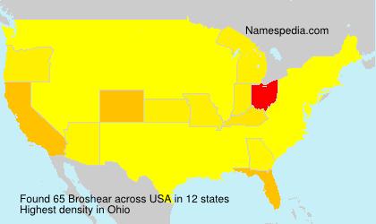 Surname Broshear in USA