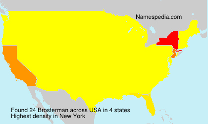 Surname Brosterman in USA