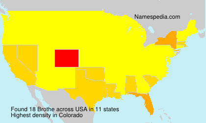 Surname Brothe in USA