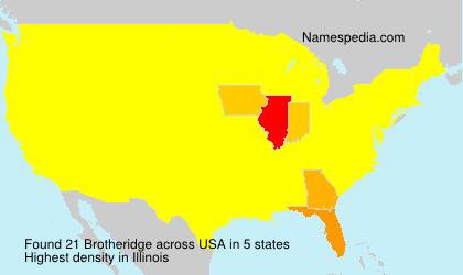 Surname Brotheridge in USA