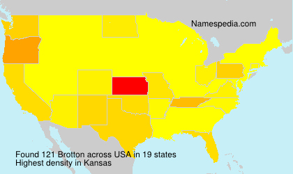 Surname Brotton in USA