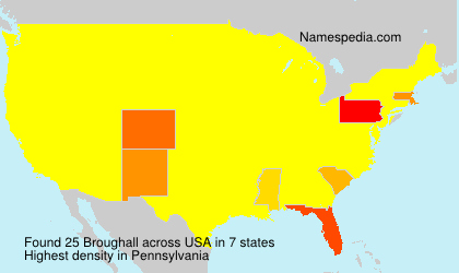 Surname Broughall in USA