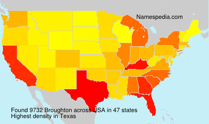 Surname Broughton in USA