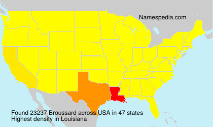 Surname Broussard in USA